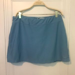 Nike Light Blue Stretchy Golf Skirt with Shorts